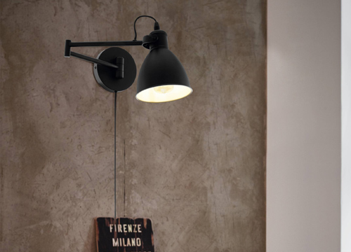 Glighone Apliques de Pared Regulable L/ámpara de Pared con Enchufe Interruptor Cable Moderno Luz de Pared 12W LED Arriba Abajo L/ámpara Pared Interior para Sala de Estar Dormitorio Blanco C/álido