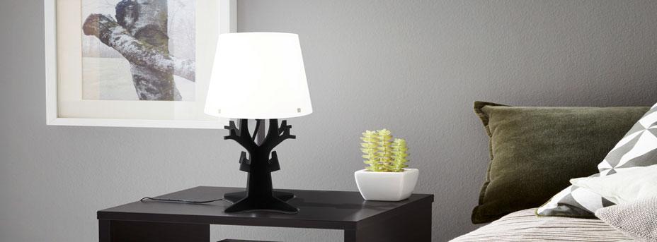 Tischlampe modern im Schlafzimmer Huntsman 49365