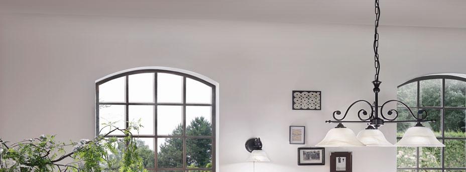 Pendelleuchte Glas MURCIA im Wohnraum 91005