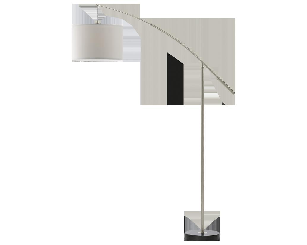 binnenverlichting de gebogen vloerlamp