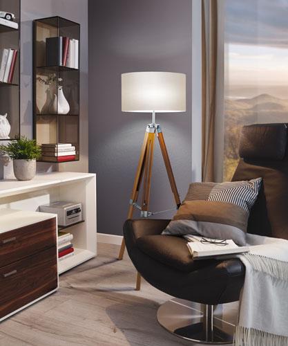Stehlampe Holz LANTADA im Wohnbereich 94324