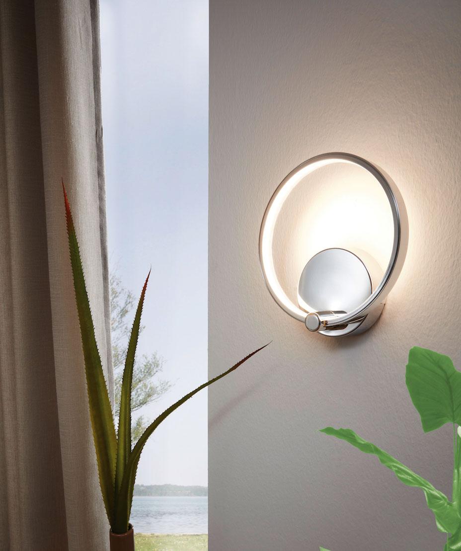 LED Wandleuchte LASANA im Wohnbereich 95768