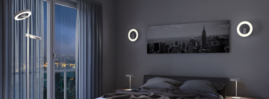 LED Stehlampe ALVENDRE im Schlafzimmer 96659