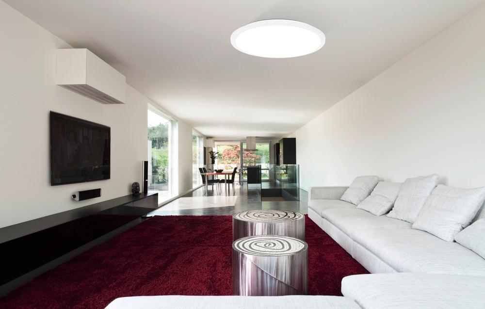 Innenleuchten Wohnzimmer Deckenleuchte minimalistisch weiß