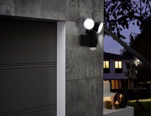 LED Außenstrahler schwarz CASABAS 98189