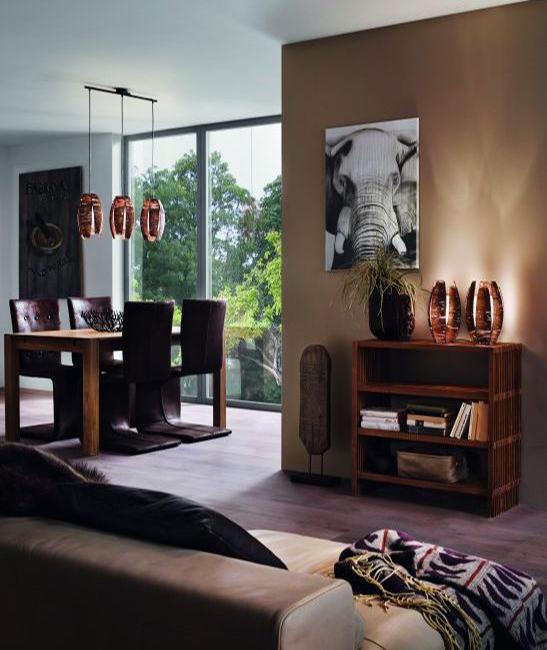 Tischlampe Holz MONGU 91014