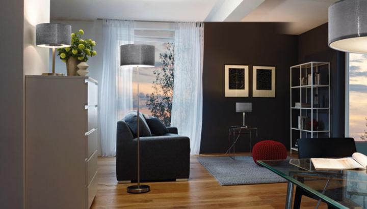 Stehlampe dimmbar ROMAO im Wohnzimmer 95353
