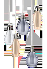 binnenverlichting pendelarmaturen van glas
