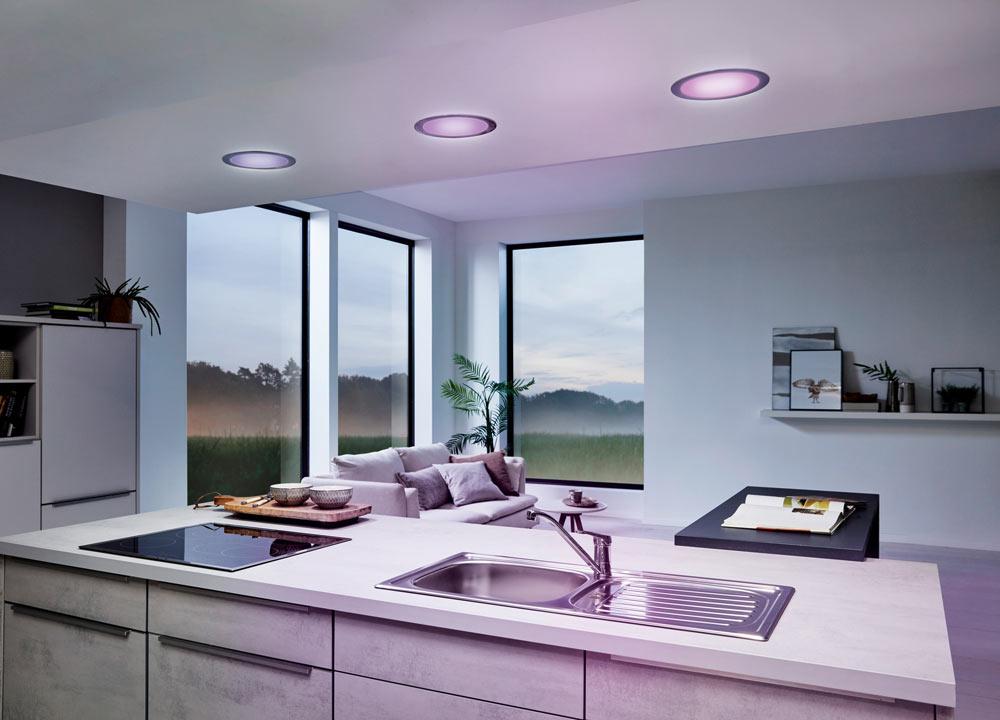 binnenverlichting inbouwspots in inbouwkeukens met EGLO Connect