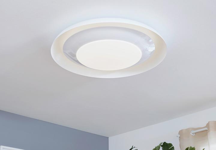 Edelstahl LED 19 Watt Decken Leuchte Wand Lampe Wohn Raum Bade Schlaf Zimmer