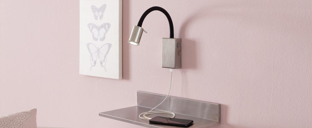 Innenleuchten Wandlampen mit integriertem Schalter