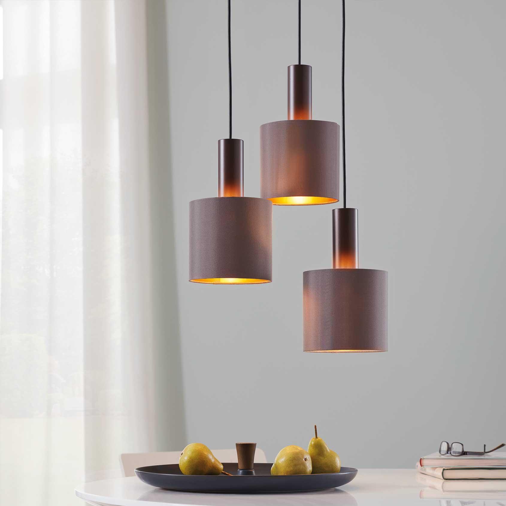 Lampy wiszące tekstylne   EGLO