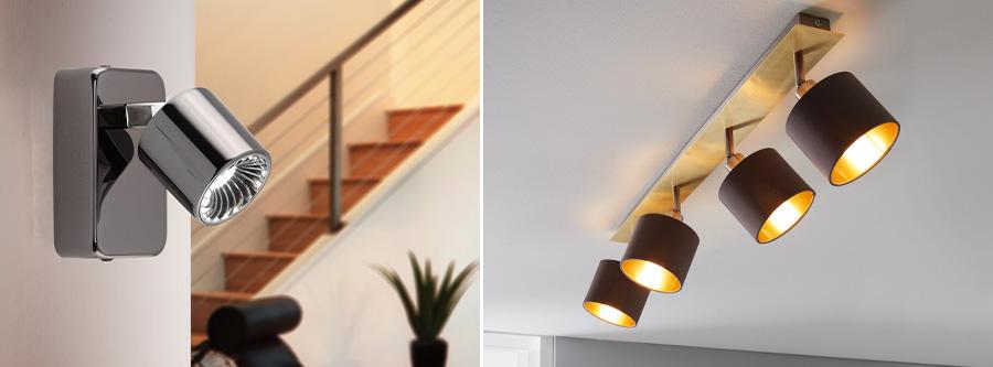 Mur Projecteur Réglable Travail Chambre Lis Spot Lampe Projecteur Noir Or