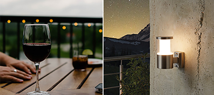 buitenverlichting wandlampen buiten voor het balkon