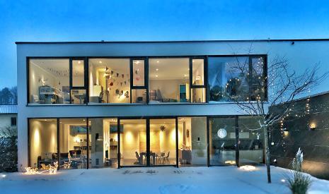 Außenleuchten Außenwandleuchten Außenansicht Haus beleuchtet