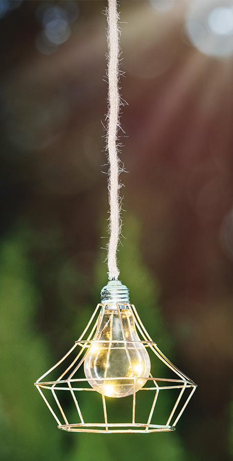 buitenverlichting zonne-verlichting bijvoorbeeld in de tuin