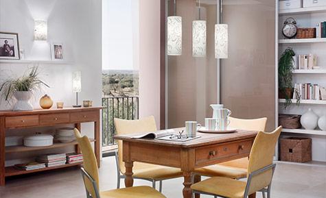 Räume Esszimmerlampen Lampe über Essbereich im Wohnzimmer