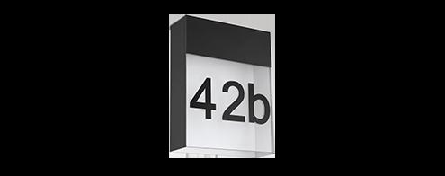 Außenleuchten Hausnummern Hausnummer beleuchtet