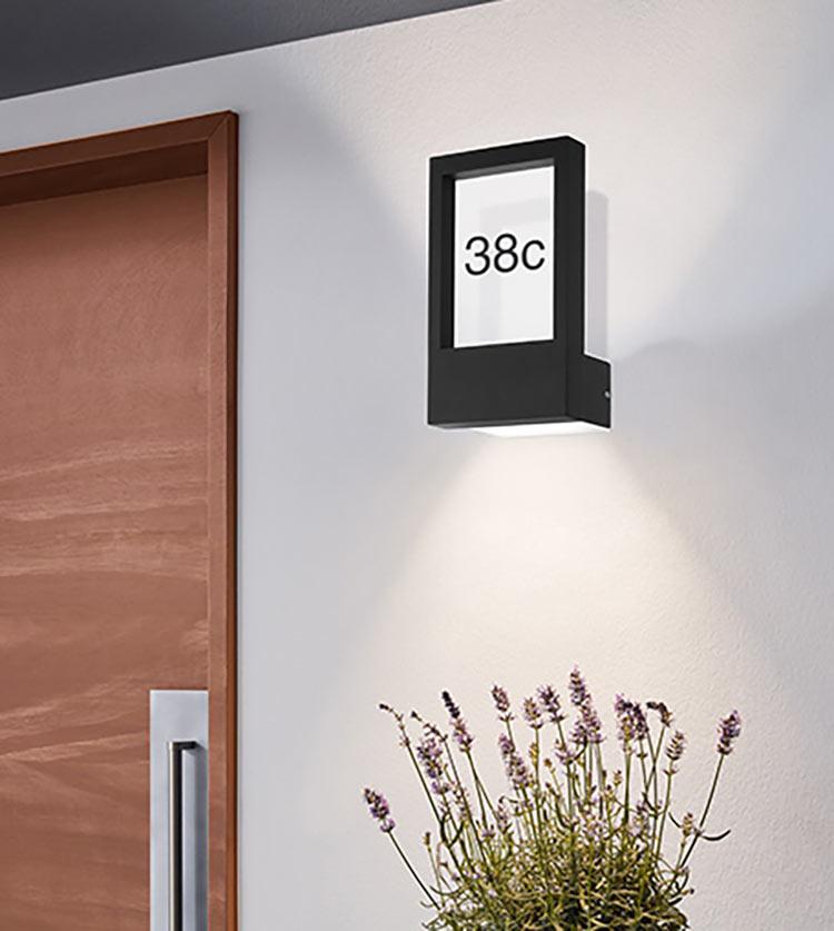 buitenverlichting huisnummer licht