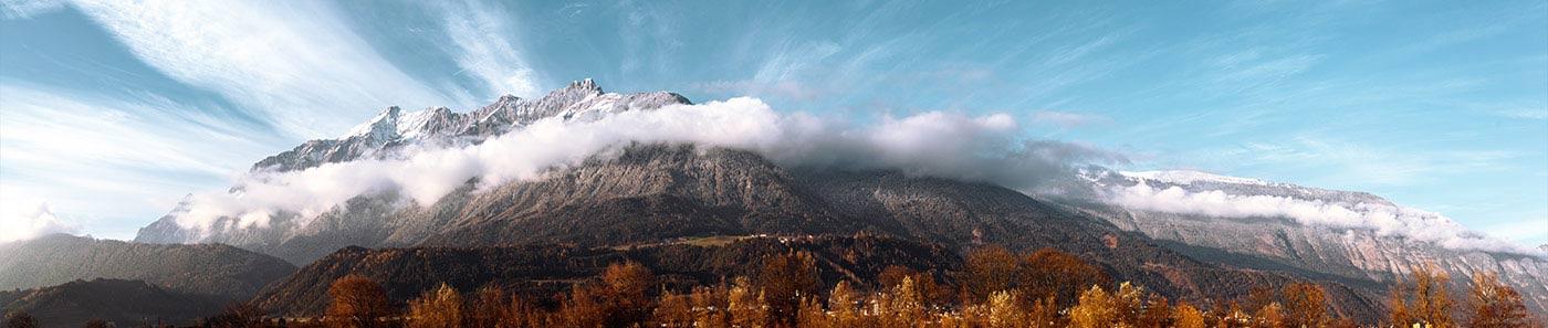 Vista desde la sede en Pill, Tirol