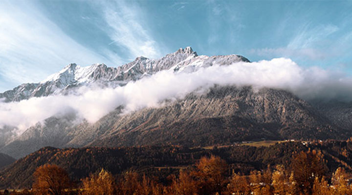 Uitzicht vanaf het hoofdkantoor in Pill, Tirol