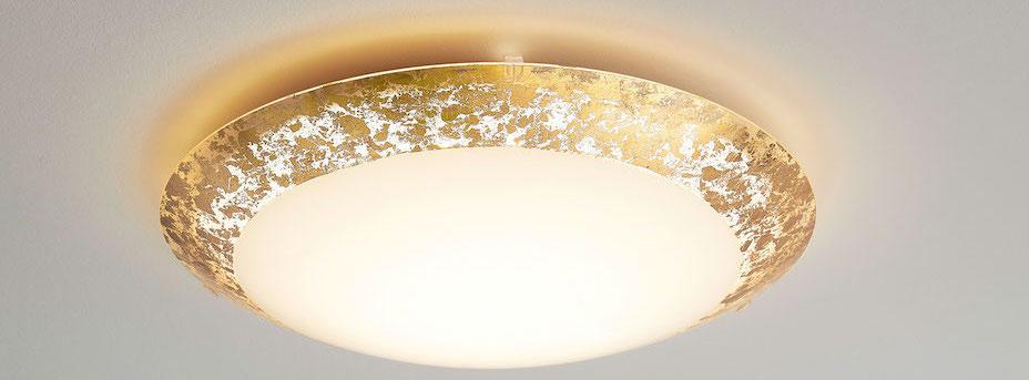 LED Deckenleuchte gold