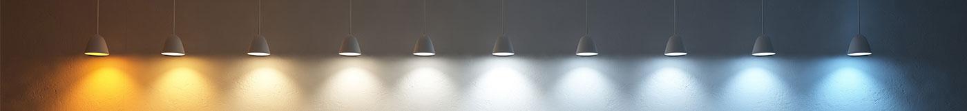 Zubehör Leuchtmittel Lampen mit verschiedener Lichtfarbe - Warmweiß bis Kaltweiß