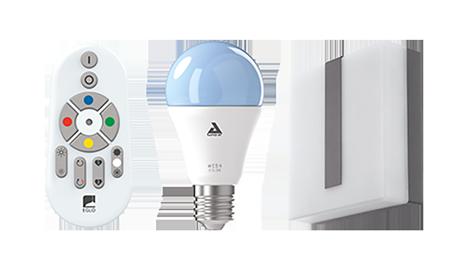 buitenverlichting smart home met lamp met afstandsbediening en smartphone-app