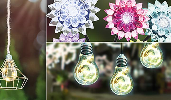 Außenleuchten Solarleuchten Collage für Ihre Gartengestaltung